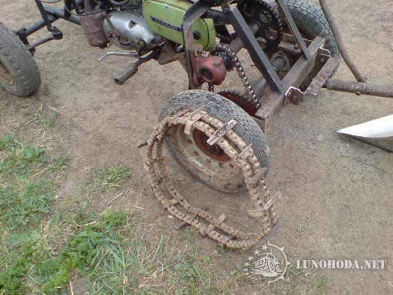 Как сделать цепи на колеса на мотоблок