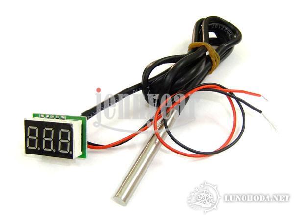 Установка автомобильного термометра своими руками 48