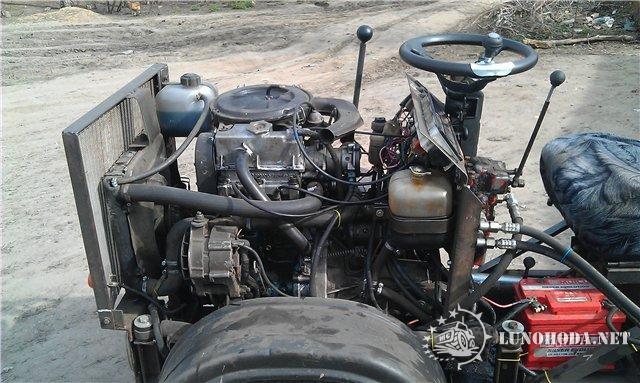 Трактор с двигателем от оки своими руками 435