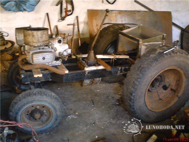 Самодельные трактора с двигателем мотоцикла