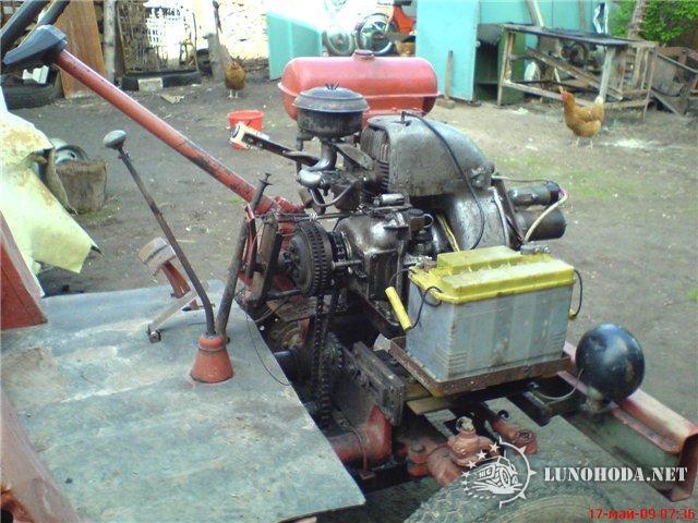Как сделать на самодельному трактору сцепление