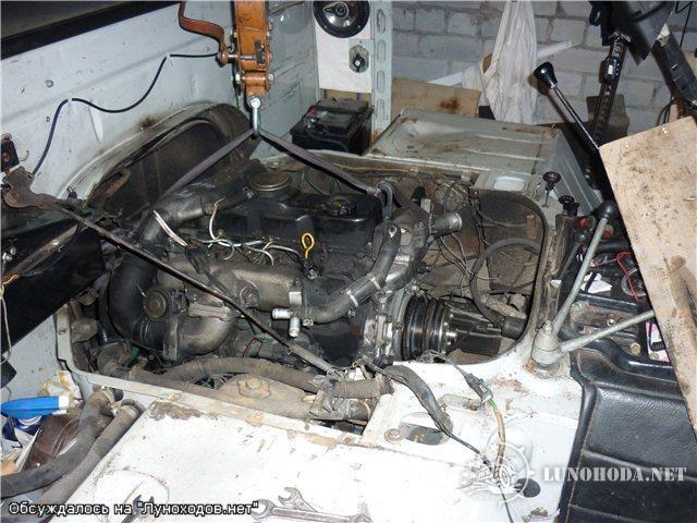 Уаз буханка установка дизельного двигателя