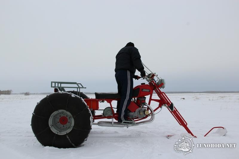 Снегоход из мотоцикла иж