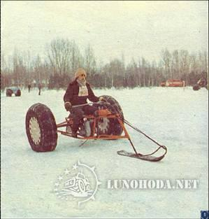 Как сделать снегоход на пневмо колесах